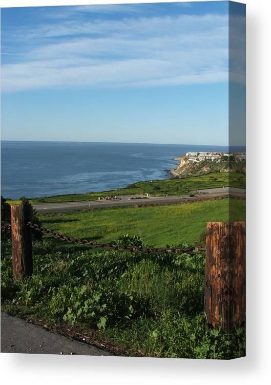 Ocean Canvas Print featuring the photograph Enjoying The View by Shari Chavira