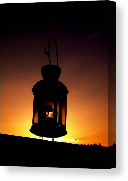 Lantern Canvas Print featuring the photograph Evening Lantern by Tim Allen