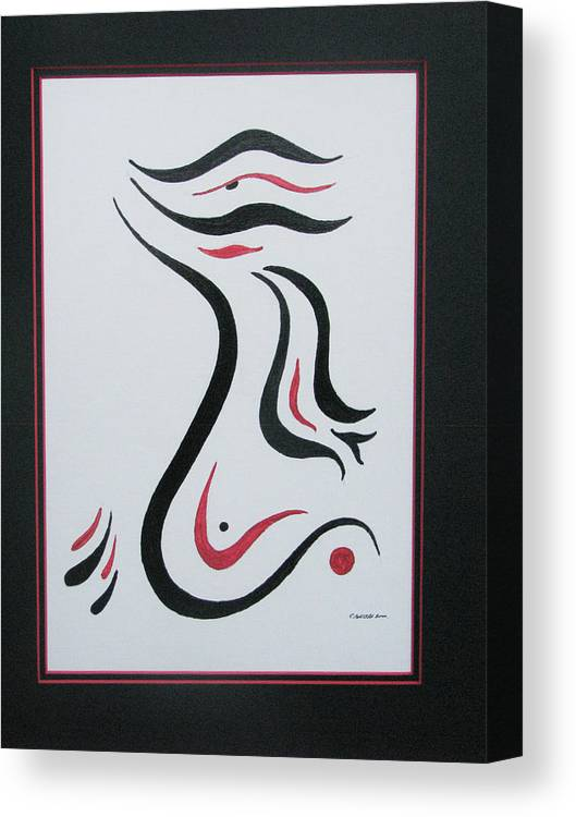 Abstract Free Form Canvas Print featuring the painting Flight To Freedom II by Craig Lechman