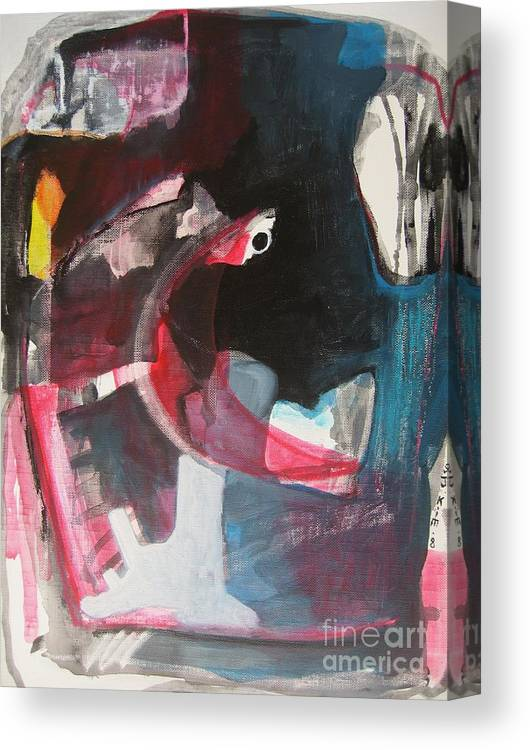 Abstract Paintings Paintings Abstract Art Paintings Canvas Print featuring the painting Fumbling With Memory by Seon-Jeong Kim