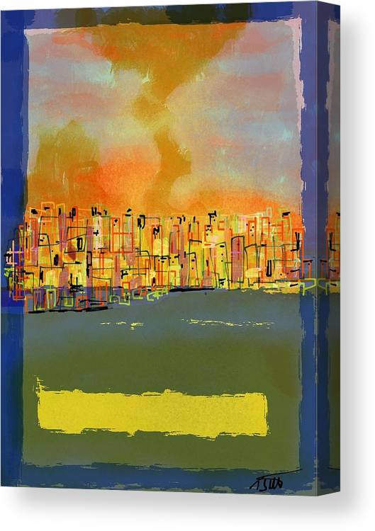 Abstract Canvas Print featuring the digital art Gto Dusk by Settel-Thomas-Eugene