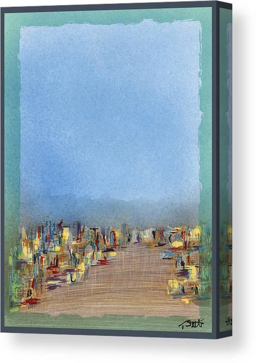 Gto Twilight Canvas Print featuring the digital art Gto Twilight by Settel Thomas Eugene