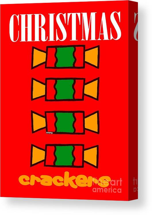 Christmas Canvas Print featuring the painting Happy Christmas 14 by Patrick J Murphy