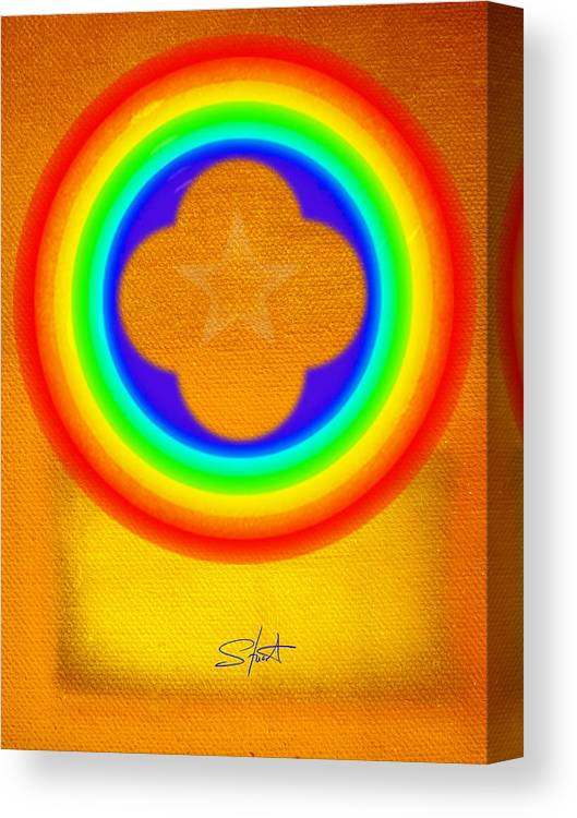 Abstract Canvas Print featuring the painting Harvest Gold by Charles Stuart