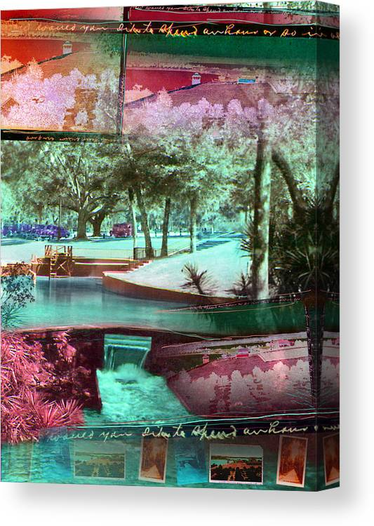 Sanlando Canvas Print featuring the photograph How Would You Like To Spend An Hour by Deborah Hildinger