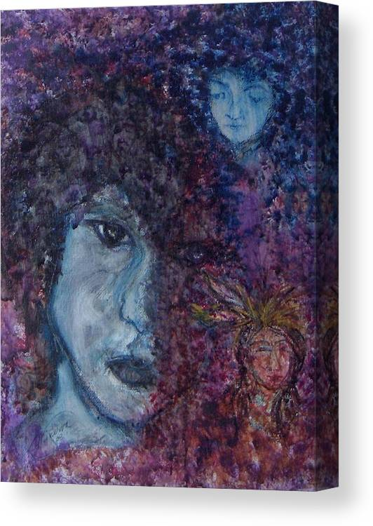 Jim Morrison Canvas Print featuring the painting Indian Summer Dream by Cathy Minerva