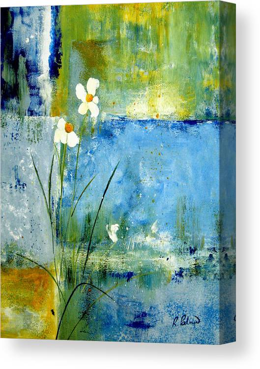 Abstract Canvas Print featuring the painting It's Just You And Me by Ruth Palmer