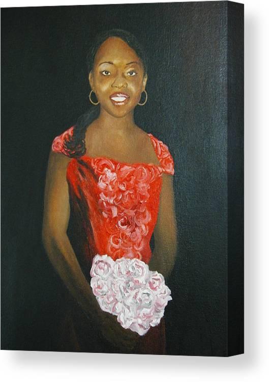 Portrait Canvas Print featuring the painting Jaclyn by Angelo Thomas