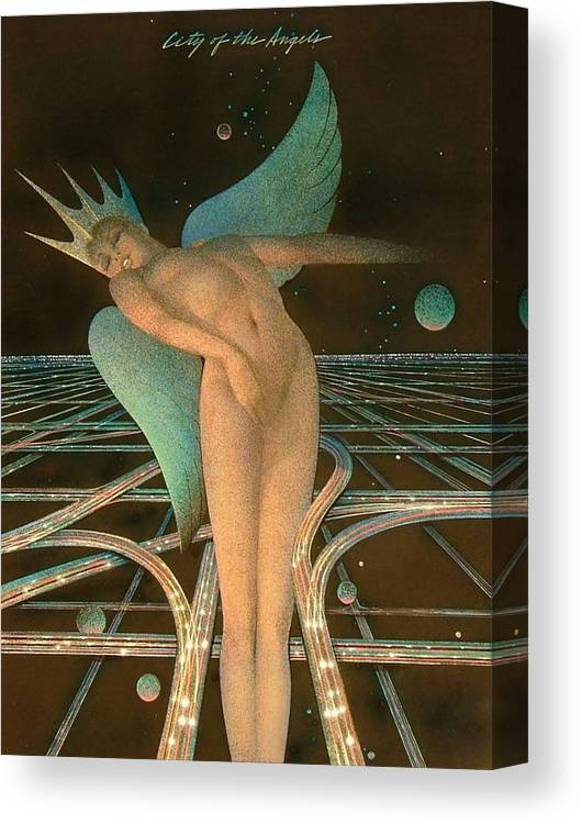 Female Canvas Print featuring the painting Lady Of The Angels by Gary Kaemmer