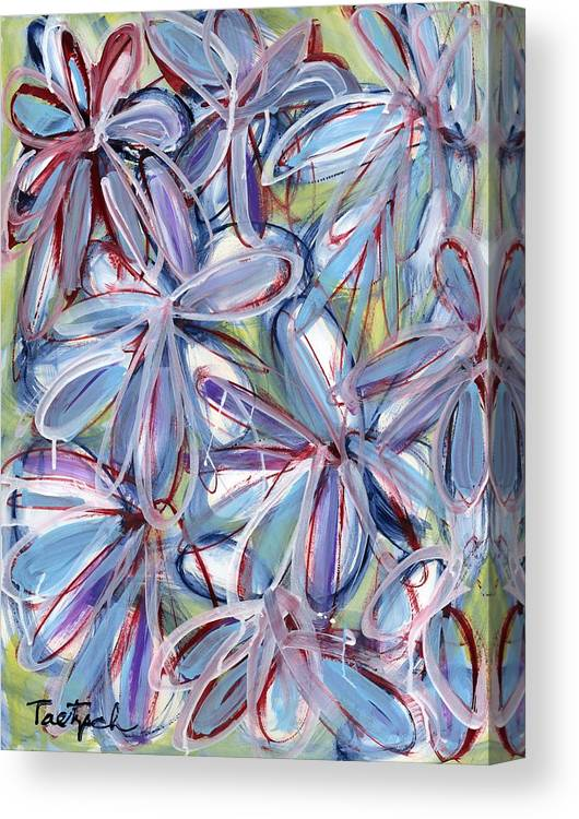 Floral Canvas Print featuring the painting Life Form Two by Lynne Taetzsch