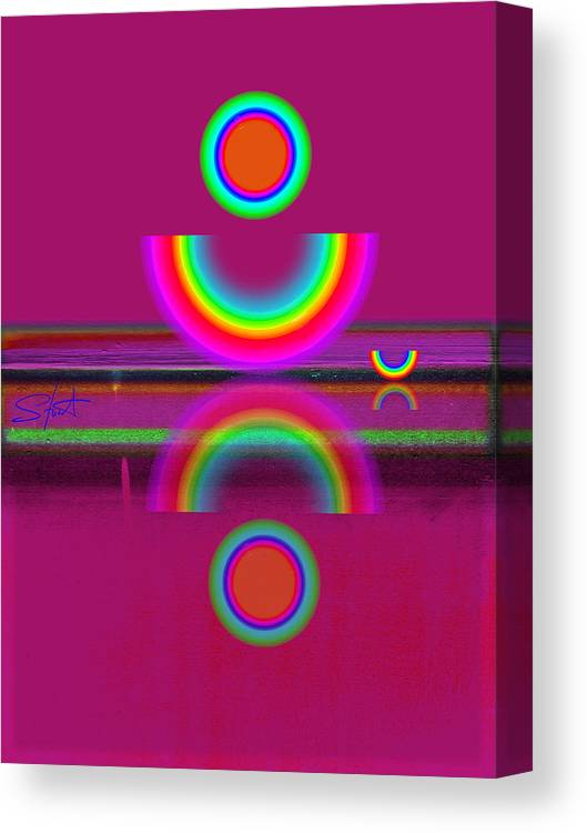 Reflections Canvas Print featuring the painting Light Red by Charles Stuart