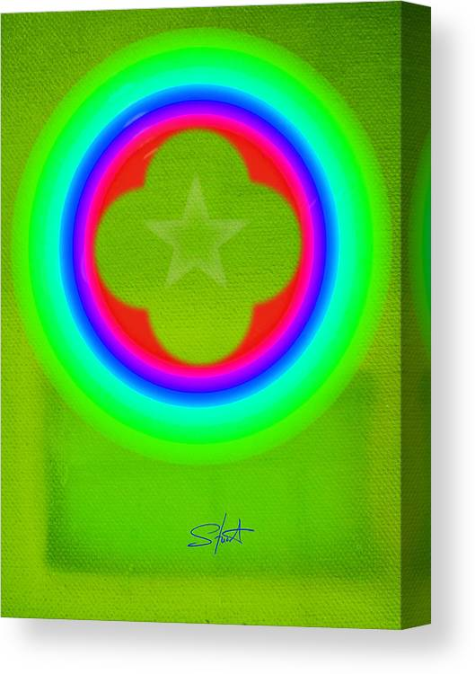 Abstract Canvas Print featuring the painting Lime by Charles Stuart