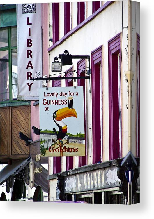 Irish Canvas Print featuring the photograph Lovely Day For A Guinness Macroom Ireland by Teresa Mucha