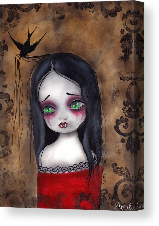 Gothic Canvas Print featuring the painting Luzie by Abril Andrade Griffith