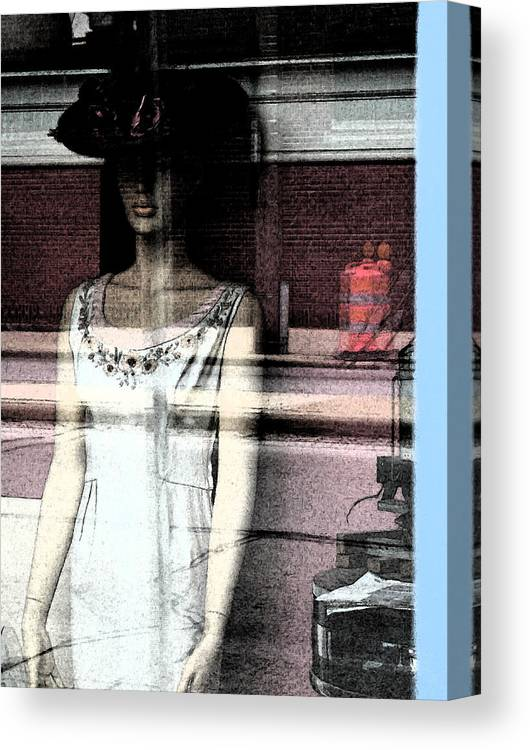 Abstract Canvas Print featuring the photograph Mannequin Window 1 by Gary Everson