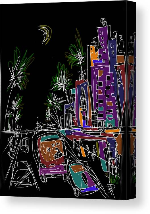 Miami Canvas Print featuring the digital art Miami by Russell Pierce