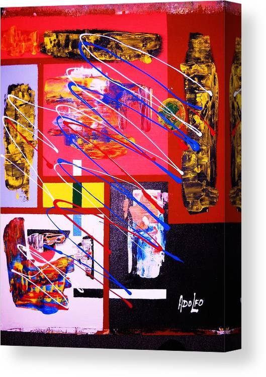 Intense Canvas Print featuring the painting Miami...south Beach.. by Adolfo hector Penas alvarado