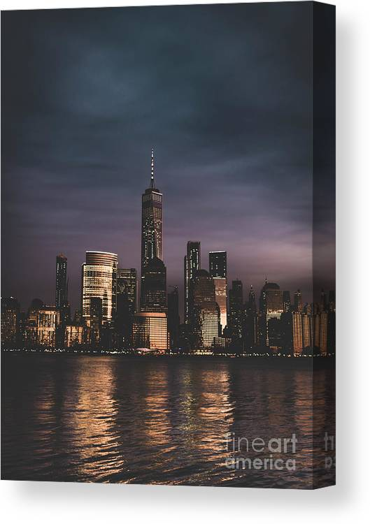 New York City Canvas Print featuring the photograph Moody Nyc by Zawhaus Photography
