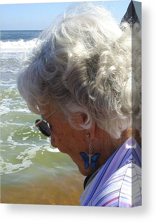Grandmother Canvas Print featuring the photograph My Grandmother by Scarlett Royal