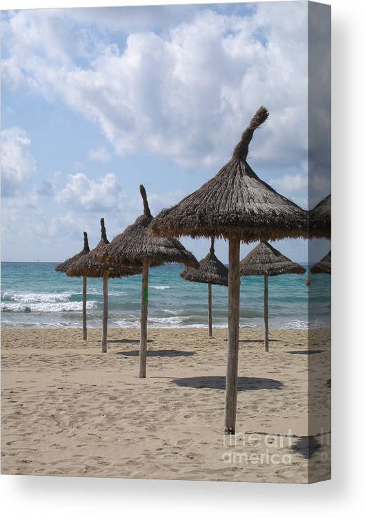 Beach Canvas Print featuring the photograph Natural Umbrella by Chad Natti