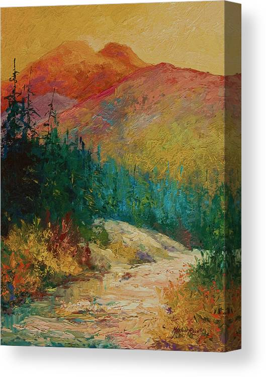 Alaska Canvas Print featuring the painting Northern Essence by Marion Rose