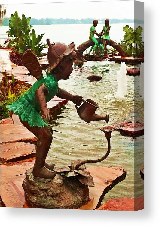 Statue Canvas Print featuring the photograph Nymphs by Donna Cain