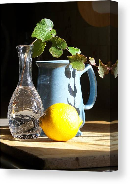 Vine Canvas Print featuring the photograph On The Table 2 - Photograph by Jackie Mueller-Jones
