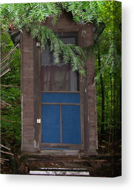 Outhouse Canvas Print featuring the photograph Our Outhouse - Photograph by Jackie Mueller-Jones