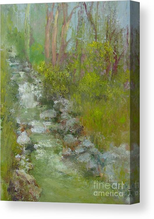 Landscape Canvas Print featuring the painting Peekskill Hollow Creek by Kathleen Hoekstra