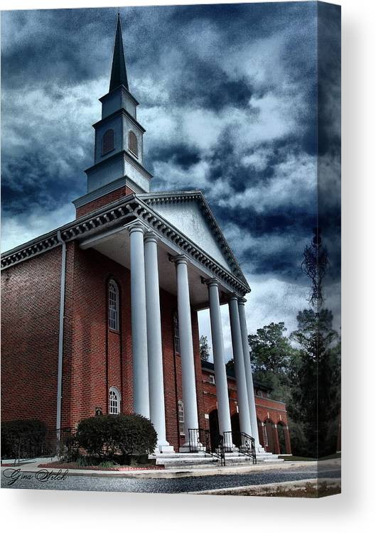 Architecture Canvas Print featuring the photograph Pillars by Gina Welch