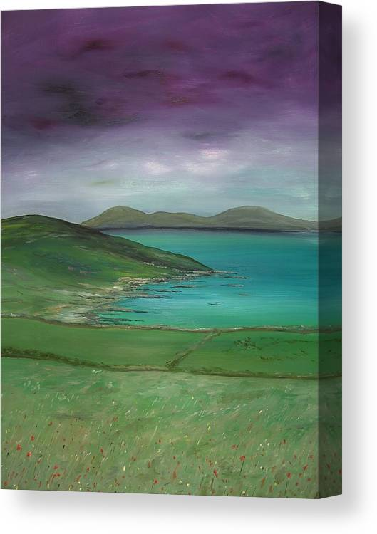 Purple Canvas Print featuring the painting Purple Sky Over Donegal by Maurice Noble