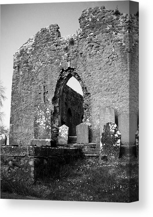 Ireland Canvas Print featuring the photograph Rear Entrance Fuerty Church Roscommon Ireland by Teresa Mucha