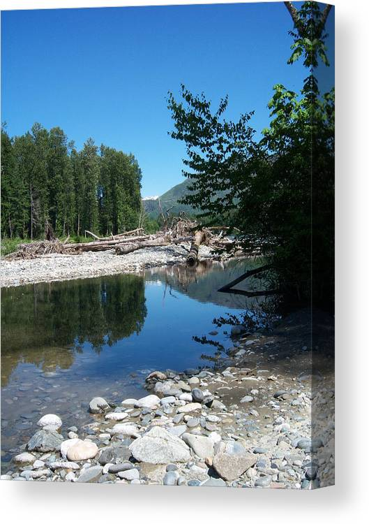 Water Canvas Print featuring the photograph Reflection by Ken Day