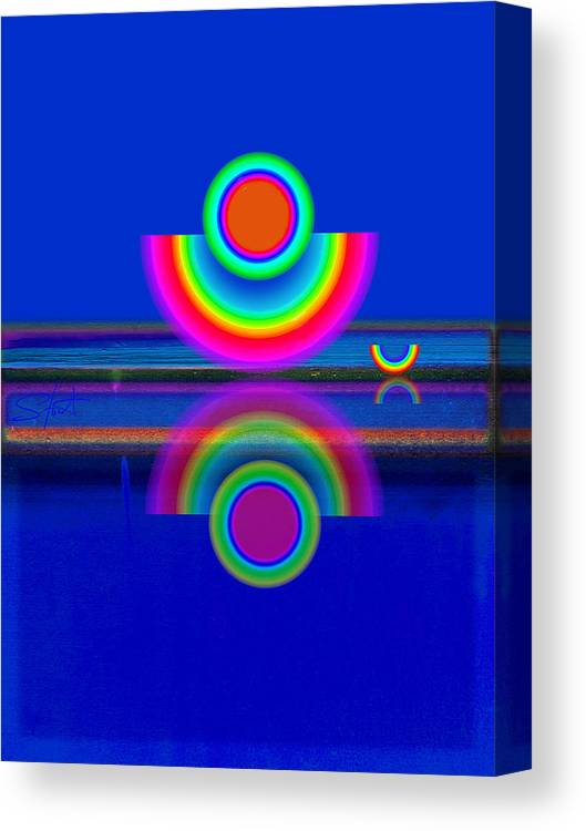 Reflections Canvas Print featuring the painting Reflections On Blue by Charles Stuart