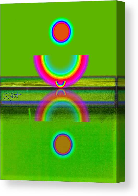 Reflections Canvas Print featuring the painting Reflections On Lime by Charles Stuart