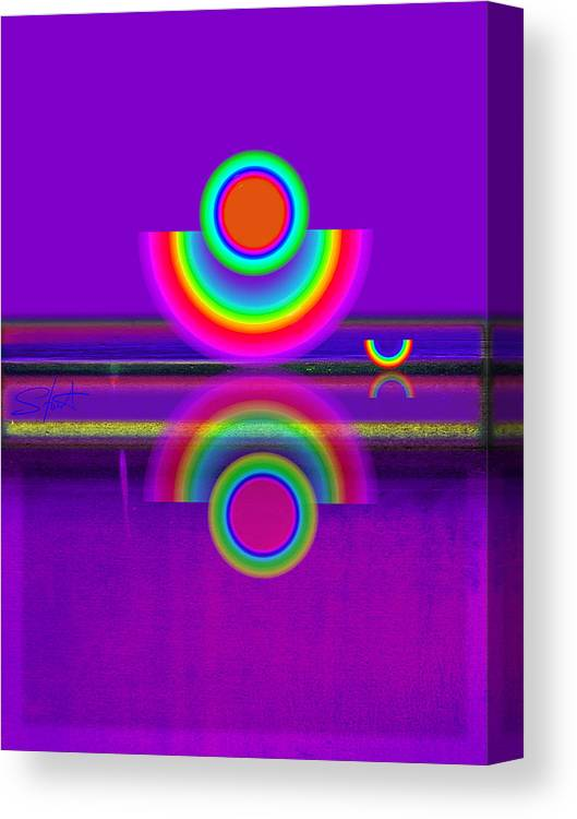Reflections Canvas Print featuring the painting Reflections On Mauve by Charles Stuart