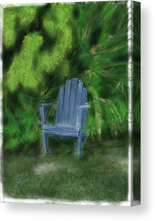 Chair Canvas Print featuring the digital art Relaxin by Russell Pierce