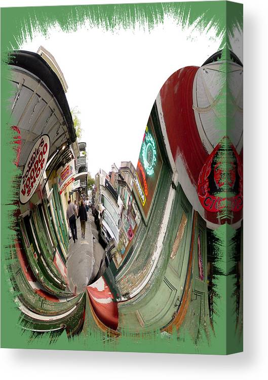 New Orleans Canvas Print featuring the photograph Rev Zombie Twisted by Linda Kish