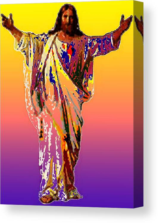 Pietyz Artz Canvas Print featuring the digital art Risen King by Piety Dsilva
