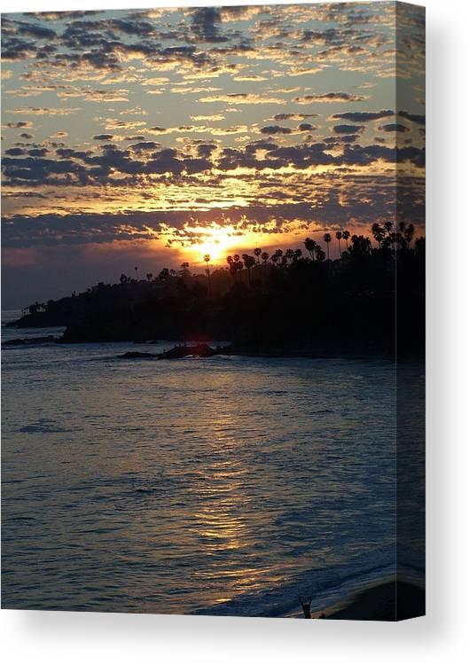 Ocean Canvas Print featuring the photograph Romantic Laguna by John Loyd Rushing