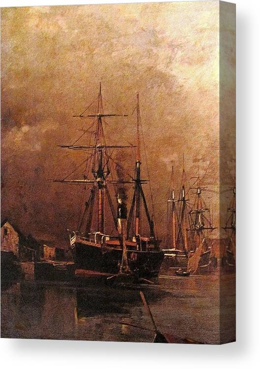 Ship Canvas Print featuring the painting Rs02 by Roberto Simeroni
