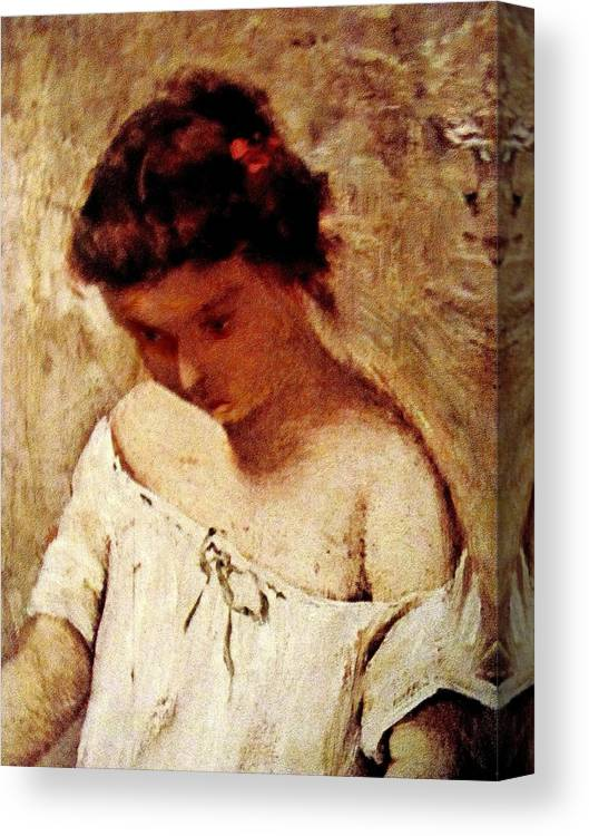 Portrait Canvas Print featuring the painting Rs09 by Roberto Simeroni