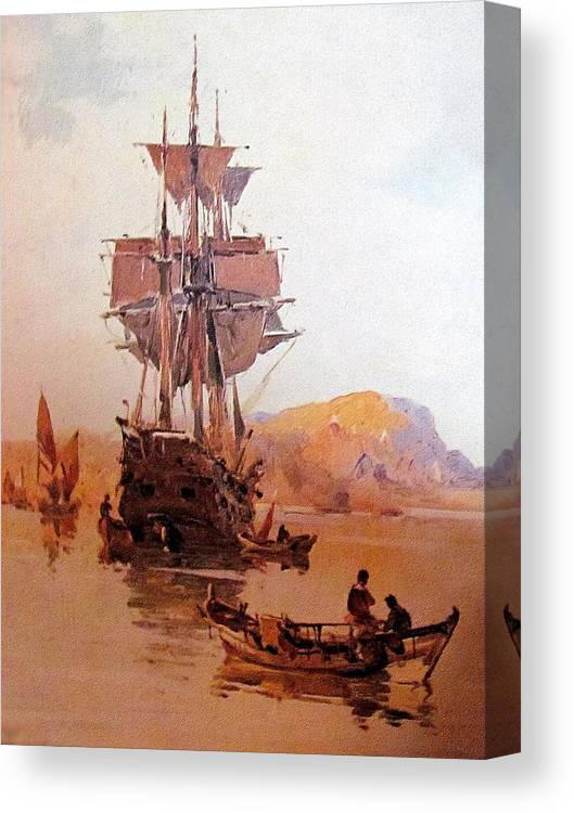 Ship Canvas Print featuring the painting Rs21 by Roberto Simeroni