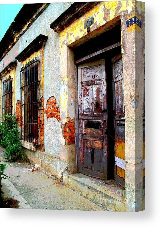 Darian Day Canvas Print featuring the photograph Ruin By Darian Day by Mexicolors Art Photography