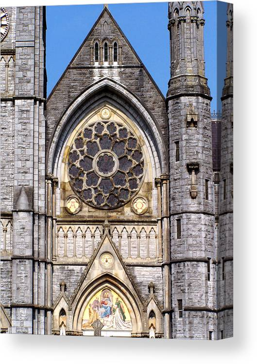 Ireland Canvas Print featuring the photograph Sacred Heart Church Detail Roscommon Ireland by Teresa Mucha