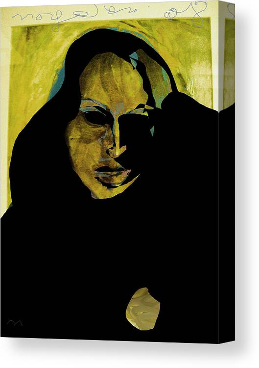 Woman Canvas Print featuring the painting Sadness by Noredin Morgan