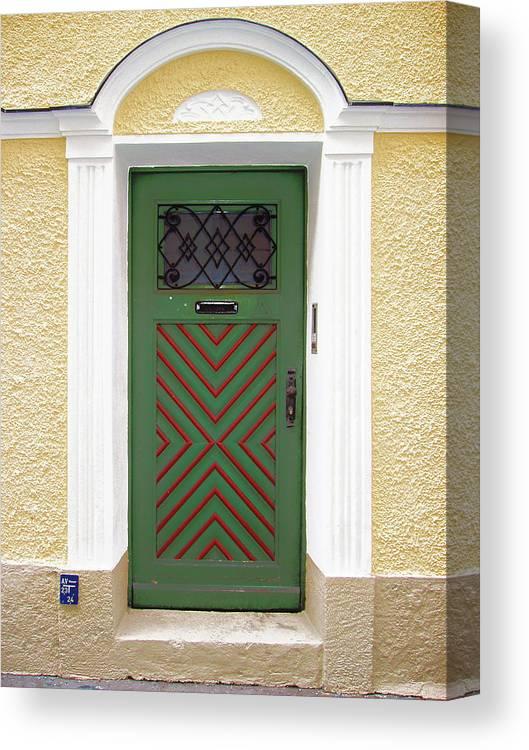 Door Canvas Print featuring the photograph Salzburg Door by Derek Selander