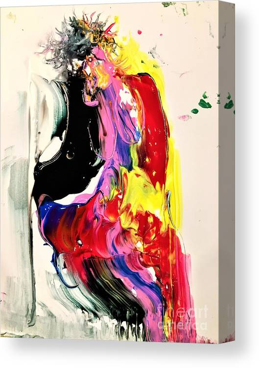 Abstract Canvas Print featuring the painting Seductress Of Milan by Dr Ernest Williamson III
