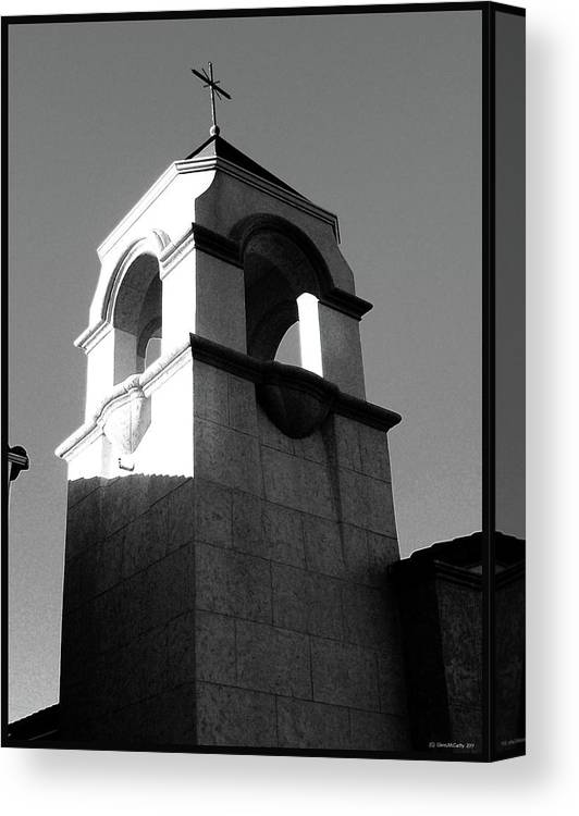Church Building Canvas Print featuring the photograph Shadows Of Truth by Glenn McCarthy Art and Photography