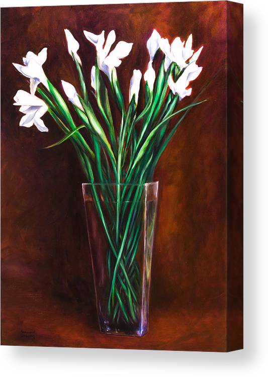 Iris Canvas Print featuring the painting Simply Iris by Shannon Grissom
